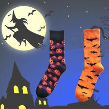 Women Halloween Pumpkin Splicing Long Socks Casual Stocking Ankle Socks Creative