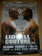 UFC 57 Chuck Liddell Vs Couture 3 - Autographed SBC Poster Nick Diaz RARE Signed
