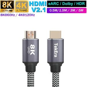 HDMI Cable 2.1 Ultra High Speed 8K@60Hz 48Gbps 4K UHD 3D Dynamic HDR Copper Wire
