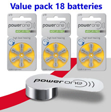 18 PowerOne Hearing Aid Batteries Size 10 P10 PR70 Super Fresh Expire 2021
