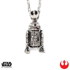 "Han Cholo STAR WARS Silver R2D2 Pendant Shadow Series Necklace 30"" NEW"