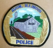 Patches: AVON, ILLINOIS US POLICE PATCH (New,apx 95 mm x 105 mm)