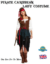 PIRATE CARIBBEAN LADY COSTUME not Pirates of the Caribbean Ladies Fancy Dress