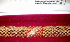 Camrose & Kross Jacqueline Jackie Kennedy Sim. Ruby & Diamond Stripe Bracelet