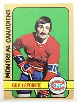 1972-73 Guy Lapointe Montreal Canadiens 86 OPC O-Pee-Chee Hockey Card P095