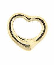 Tiffany & Co. Elsa Peretti Open Heart Charm 18K Yellow Gold