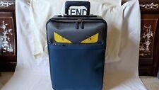 NEW FENDI Monster Eyes Navy Leather Suitcase Luggage Italy Trolley $3950 NWT Bag