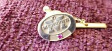 Vintage Mervyn's 10 Year Service Pendant 10k Gold with Ruby