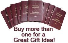 2 Pack Premium U.S. Pocket Constitution & Declaration Of Independence Amendment