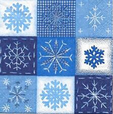 3 Servietten Napkins Winter Weihnachten Schneekristalle Kristalle Deko #3