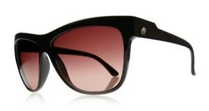 Electric Caffeine Sunglasses with Hard Case - Gloss Black / Brown Gradient