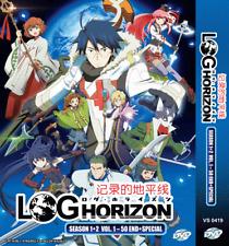 ANIME DVD LOG HORIZON Sea 1-2 ENGLISH DUB + Special Japanese Version +FREE ANIME