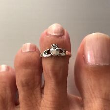 Toe Ring, Irish Ring Sterling Silver Adjustable Claddagh