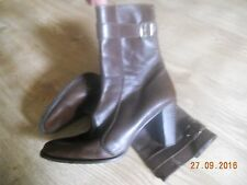 DKNY Brown Leather Boots 6 EU 40
