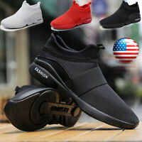 Men's Slip On Athletic Sneakers Breathable Sports Jogging Walking Running Shoes