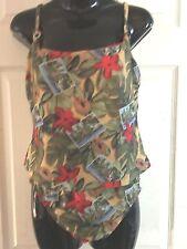 Athena 2 piece Multi Color Swimsuit Size 12