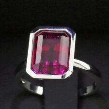Rubelith Ring  5.9 ct SPITZEN QUALITÄT 750er WEIßGOLD 6 gramm massiv SW3.655-Eur