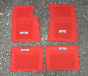 FIT FOR CHEVROLET IMPALA SS FRESH RUBBER FLOOR MATS RED 4 PCS 1961-64