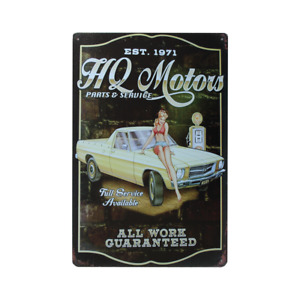 Tin Sign HQ Holden Ute Rustic 200x300mm Man Cave Shed & Bar Sign Metal