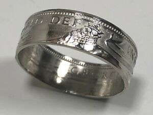 Britain Ring One Shilling England British Coin Ring - Hand Made in Canada