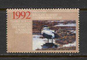 CANADA 1992, FEDERAL WILD HABITAT CONSERV.  Scott FWH8 BIRDS: EIDER DUCK, USED