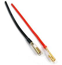 c9018fbr Rc Femenino 4mm 4.00mm Oro Bala Conectores Batería Cable 14awg 10cm