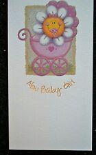 New Baby girl birth congratulations card