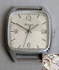 RAKETA klassische retro Armbanduhr. USSR vintage square dress watch. 1€ Auktion!