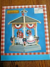 LEMAX PARK GAZEBO JULY 4TH CHRISTMAS VILLAGE HOUSE-NEW IN BOX!