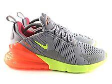 Air Max 270 Cool Grey Volt Orange AH8050-012 Men's Size 11.5 Running Shoes