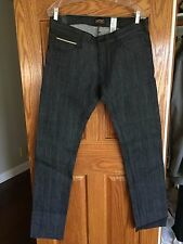 WeSC New Raw/Dry Japanese Selvage Denim Skinny Jeans 32