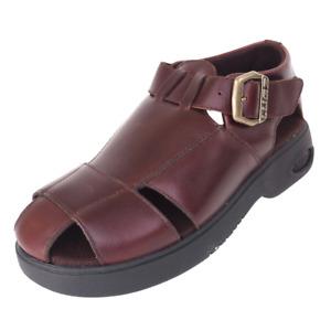 Vintage LUGZ River Men's Size 9 RARE 90s Cherry Leather Fisherman Sandals 645