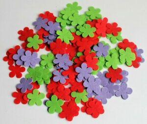 Craft Felt FLOWERS  Mixed Sets 200, 400, 600, 800, 1000 Flowers