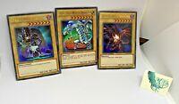 Blue Eyes White Dragon Dark Magician Red Eyes Black Dragon 3 Card Set Lot Yugioh
