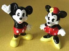 Vintage Walt Disney Set Mickie Minnie Ceramic Figurines Ceramic Japan Taiwan Euc