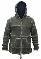 Mens Winter Wool Fleece Lined Stitched Jacket Long Sleeve Warm Jumper