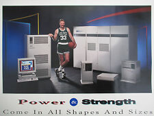 Rare DIGITAL Computer NBA VAX Power & Strenght Larry Bird BOSTON CELTICS Poster