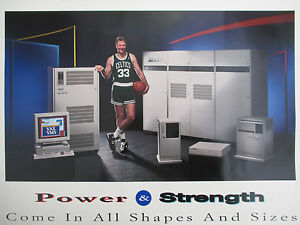 Rare DIGITAL Computer NBA VAX Power & Strength Larry Bird BOSTON CELTICS Poster