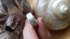 Handmade Vintage sterling silver 1960s new stock ring size 10