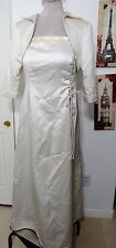 IVORY WEDDING DRESS SUIT SEPARATE 16-18 PLUS MOTHER OF BRIDE VOW RENEWAL