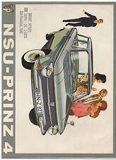 1960s NSU Prinz 4 Automobile Dealers Color Advertising Brochure