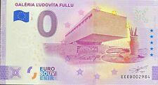 BILLET 0 EURO GALERIA L'UDOVITA FULLU SLOVAQUIE  2021 NUMERO DIVERS