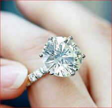 Engagement Ring 925 Sterling Silver 5Ct Round Cut White Moissanite Antique