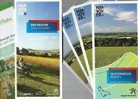 Mappe Radkarten Deisterkreisel Routen 1-4 + Begleitheft + Rundwege Wennigsen TOP