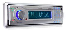 AM/FM Marine In-Dash Detachable Face Radio w/MP3/USB/SD/AUX Input w/ Bluetooth