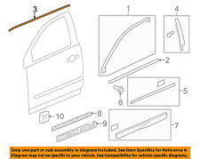 GM OEM Front Door-Lower Weatherstrip Weather Strip Seal Right 25790460