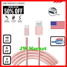 Heavy Duty Charging Phone Type C USBC Cord Cable For Android LG Samsung Charger
