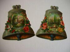 Diecut Bell Victorian Trade Card Lot, J H Harding Fresco Painter, Milwaukee WI