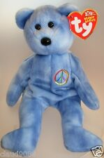 """TY  BEANIE BABIES """"PEACE"""" THE TY-DYE BEAR MINT WITH MINT TAG"""
