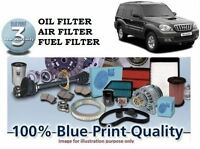 Para Hyundai Terracan 2003-2007 Kit de Mantenimiento Aire Aceite Combustible (3)